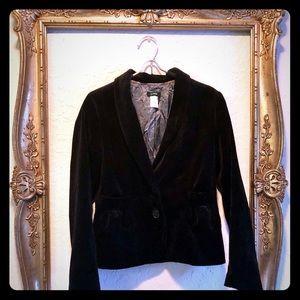 JCrew Black Velvet Blazer Jacket sz 4